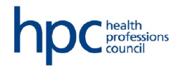 health professions council logo